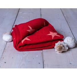 Ručník froté červený 50x100 cm Stars