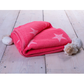 Ručník froté růžový 50x100 cm Stars