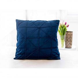 Povlak na polštářek mikroplyš 45 × 45 cm, Amy modrý