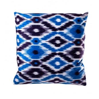 Povlak na polštářek mikroplyš 45 × 45 cm, Aztek modrá