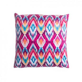 Povlak na polštářek mikroplyš 45 × 45 cm, Aztek růžová