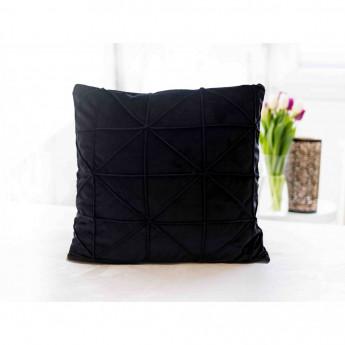 Povlak na polštářek mikroplyš 45 × 45 cm, Amy černý