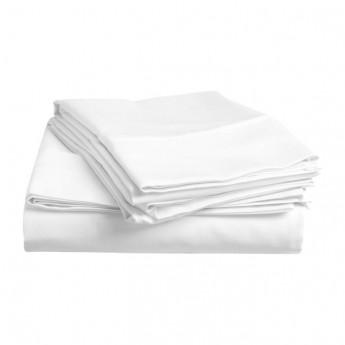 Bavlněné prostěradlo lux bílé 145x245 cm