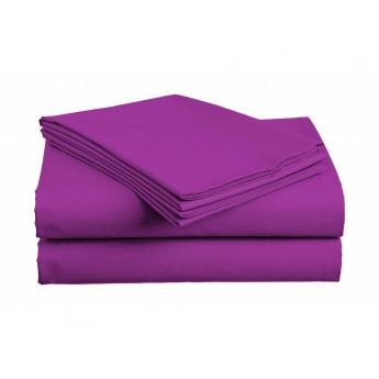 Bavlněné prostěradlo fialové 140X240 cm