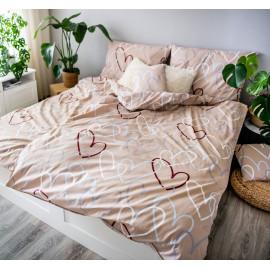 3 dílné povlečení bavlna Love béžová
