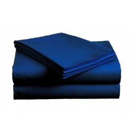 Bavlněné prostěradlo modré 140X225 cm