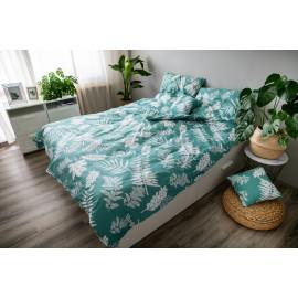 3 dílné povlečení bavlna Palma green