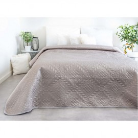 Luxusní přehoz na postel, běžový, 220x240 cm