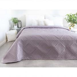 Luxusní přehoz na postel, šedorůžový, 220x240 cm