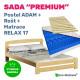 Set PREMIUM: postel ADAM, rošt a matrace RELAX 17 cm