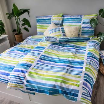 3 dílné ložní povlečení bavlna Akvarel jednolůžko 100% bavlna