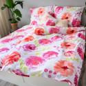 3 dílné povlečení bavlna Flores Pink