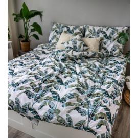 3 dílné povlečení bavlna Listy zelené